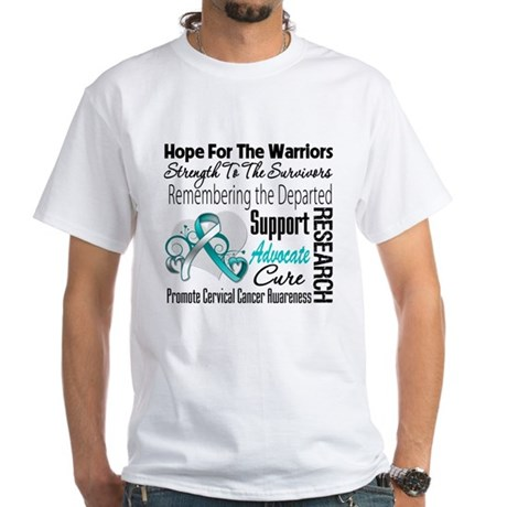 Tribute Cervical Cancer White T-Shirt