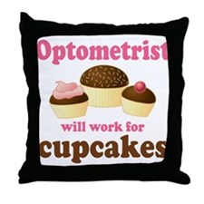 Funny Optometrist Throw Pillow