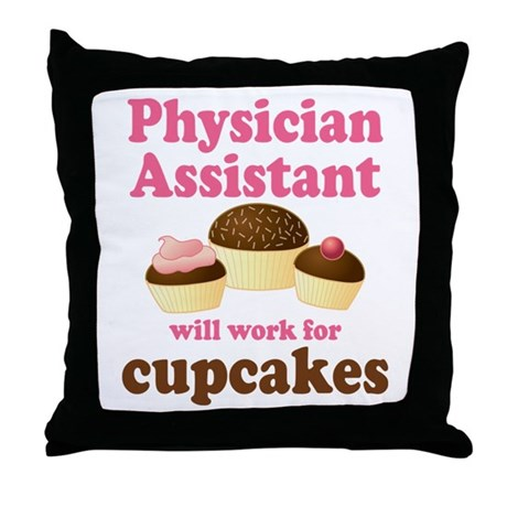 Funny Physician Assistant Throw Pillow