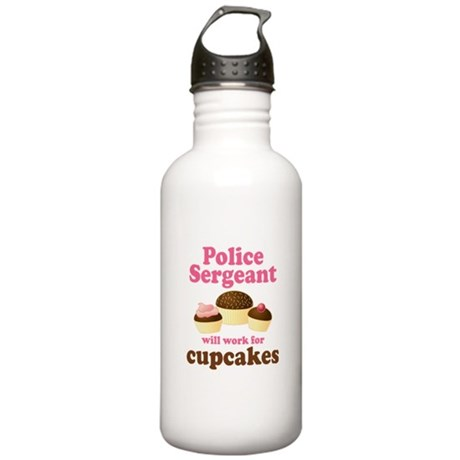 Funny Police Sergeant Stainless Water Bottle 1.0L