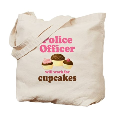 Funny Police Officer Tote Bag