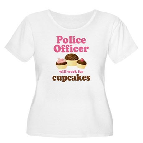Funny Police Officer Women's Plus Size Scoop Neck