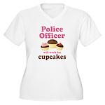 Funny Police Officer Women's Plus Size V-Neck T-Sh