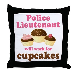 Funny Police Lieutenant Throw Pillow