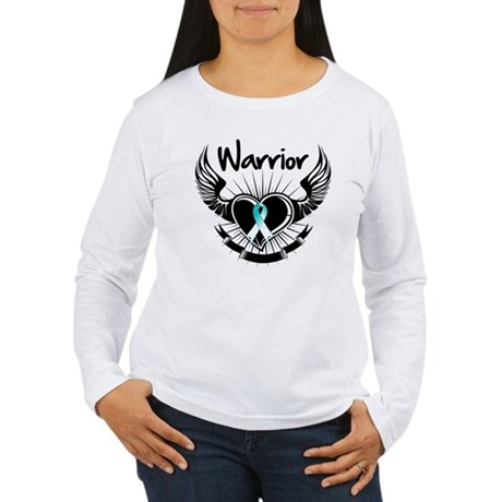Warrior Cervical Cancer Women's Long Sleeve T-Shir