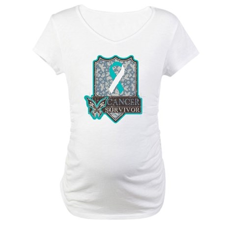 Cervical Cancer Survivor Maternity T-Shirt