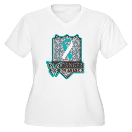 Cervical Cancer Survivor Women's Plus Size V-Neck