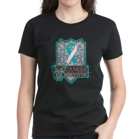 Cervical Cancer Survivor Women's Dark T-Shirt