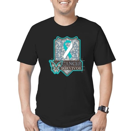 Cervical Cancer Survivor Men's Fitted T-Shirt (dar