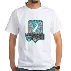 Cervical Cancer Survivor White T-Shirt