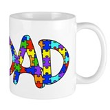 Dad Autism Awareness Mug