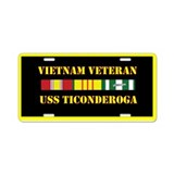 USS Ticonderoga Aluminum License Plate