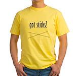 Got Sticks? Yellow T-Shirt
