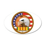 Masonic Vietnam Veteran 22x14 Oval Wall Peel