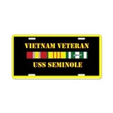 USS Seminole Aluminum License Plate