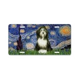 Starry/Bearded Collie 98 Aluminum License Plate