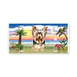 Palms-Yorkshire Terrier 17 Aluminum License Plate