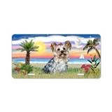 Palms - Yorkshire Terrier - Aluminum License Plate