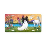 Fantasy Land Papillon Aluminum License Plate
