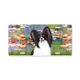 Lilies2 - Papillon 1 Aluminum License Plate