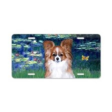 Lilies5-Papillon (red/wht) Aluminum License Plate