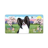 Blossoms - Papillon #1 Aluminum License Plate