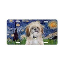 Starry - Shih Tzu (P) Aluminum License Plate