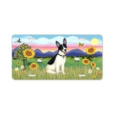 Summer Field-Rat Terrier Aluminum License Plate