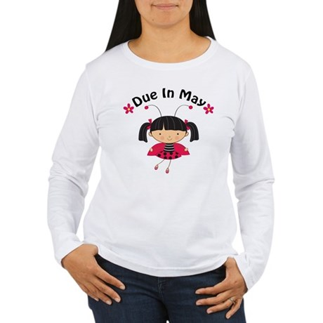 May Ladybug Due Date Women's Long Sleeve T-Shirt