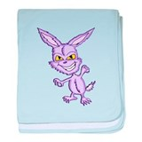 Evo the Evil Easter Bunny baby blanket