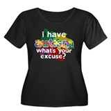 I Have Autism Women's Plus Size Scoop Neck Dark T-