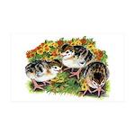 Flower Garden Guinea Keets 38.5 x 24.5 Wall Peel