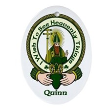 Quinn Clan Motto Oval Ornament