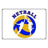 netball player rebounding Banner