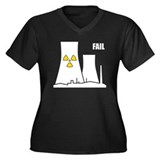 Nuclear Reactor FAIL Women's Plus Size V-Neck Dark