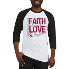 Head Neck Cancer Faith Baseball Jersey