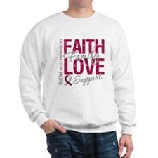 Head Neck Cancer Faith Sweatshirt