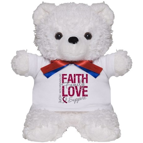 Head Neck Cancer Faith Teddy Bear