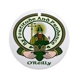 Reilly Clan Motto Ornament (Round)
