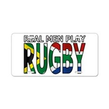 Real Men Rugby South Africa Aluminum License Plate