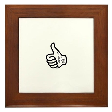 Tea Party Thumbs Up Framed Tile