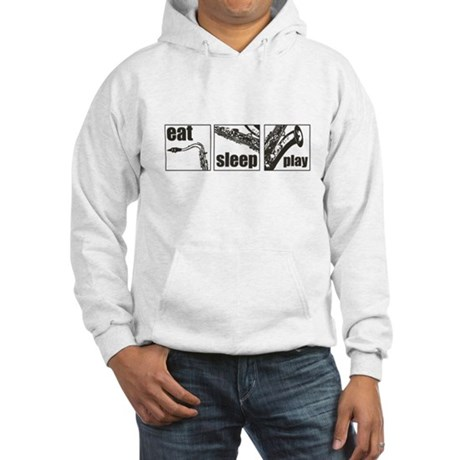 Eat Sleep Play Sax Hooded Sweatshirt