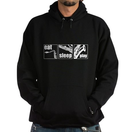 Eat Sleep Play Sax Hoodie (dark)