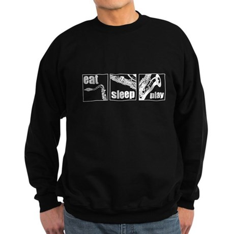 Eat Sleep Play Sax Sweatshirt (dark)