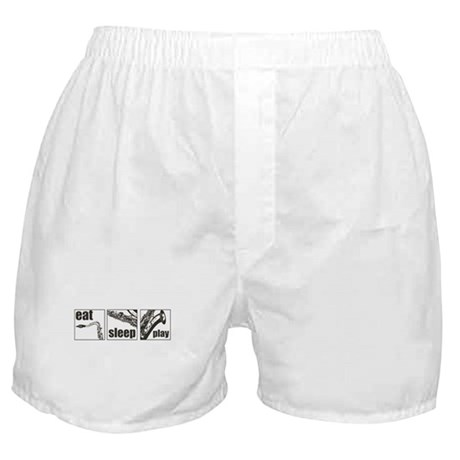 Eat Sleep Play Sax Boxer Shorts