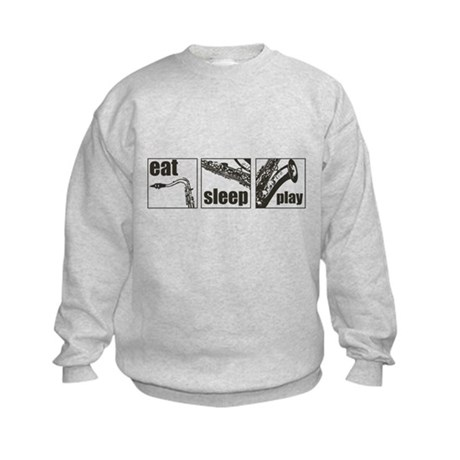 Eat Sleep Play Sax Kids Sweatshirt