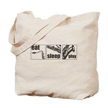 Eat Sleep Play Sax Tote Bag