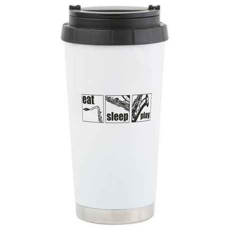 Eat Sleep Play Sax Ceramic Travel Mug