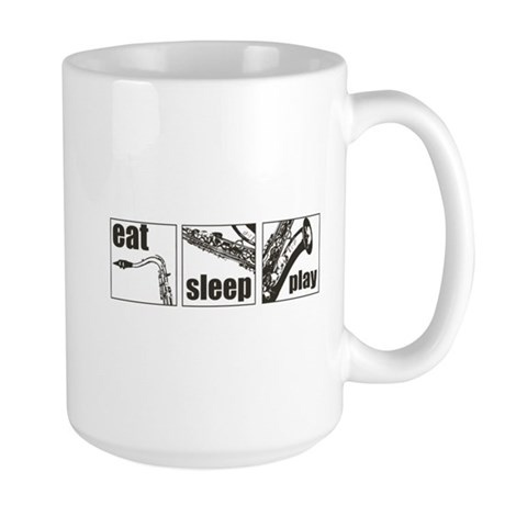 Eat Sleep Play Sax Large Mug