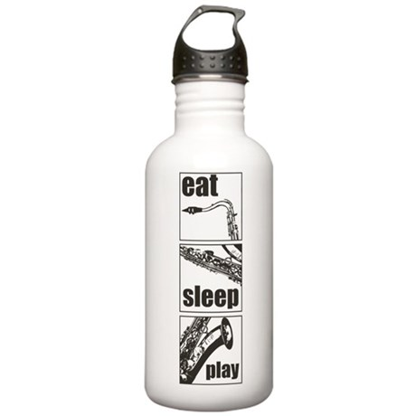 Eat Sleep Play Sax Stainless Water Bottle 1.0L
